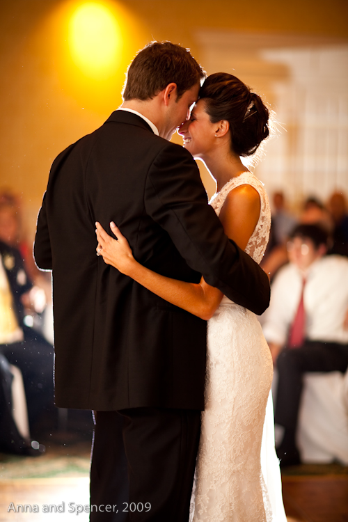 Ben and Adrienne's First Dance Wedding Photograph at the Atlanta Country Club