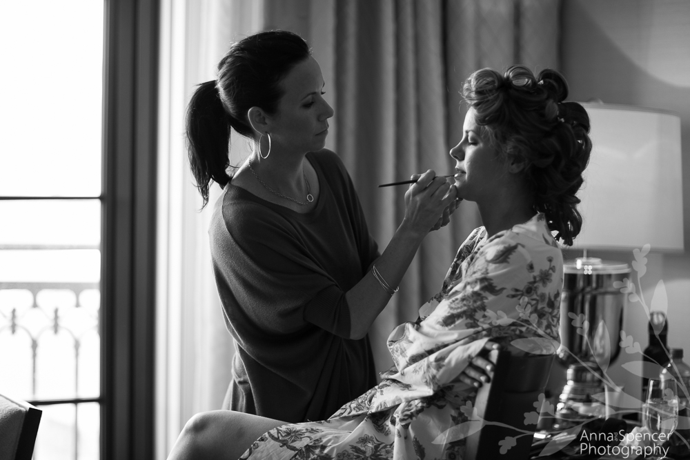 Bride Getting Ready for her Wedding at the St Regis Hotel