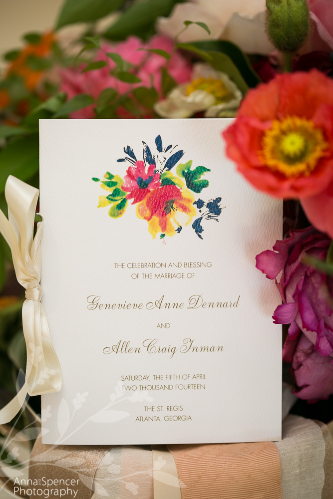 Floral Themed Wedding Program
