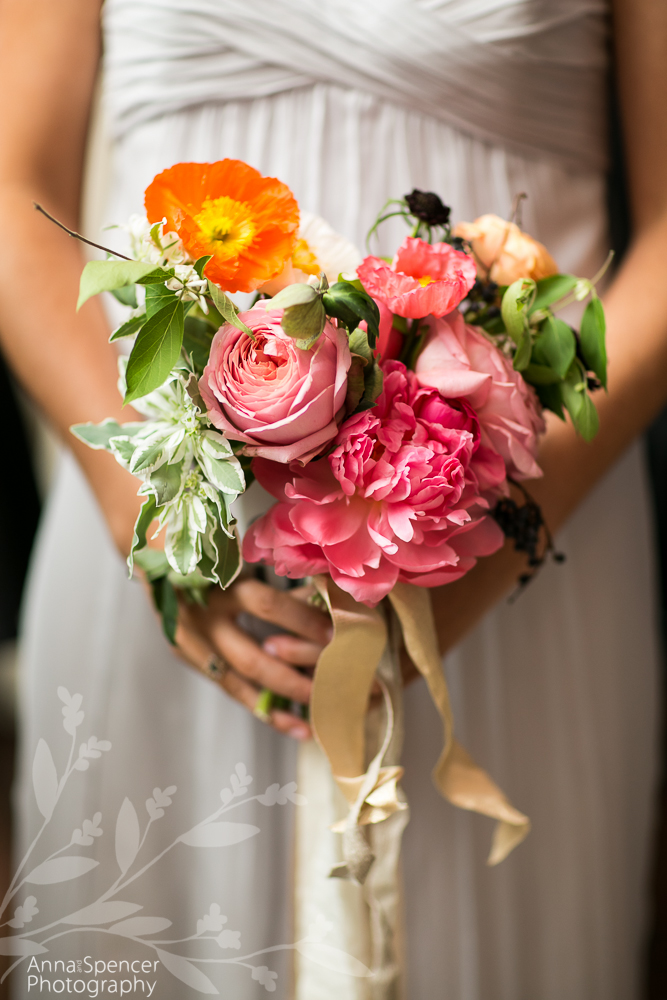 Pink and Yellow Bridesmaids Bouquet