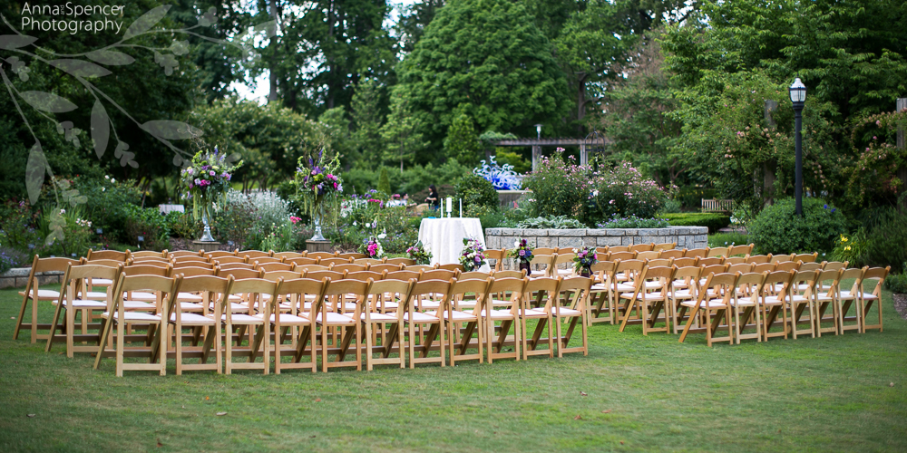 Wedding Ceremony In The Rose Garden At The Atlanta Botanical Garden
