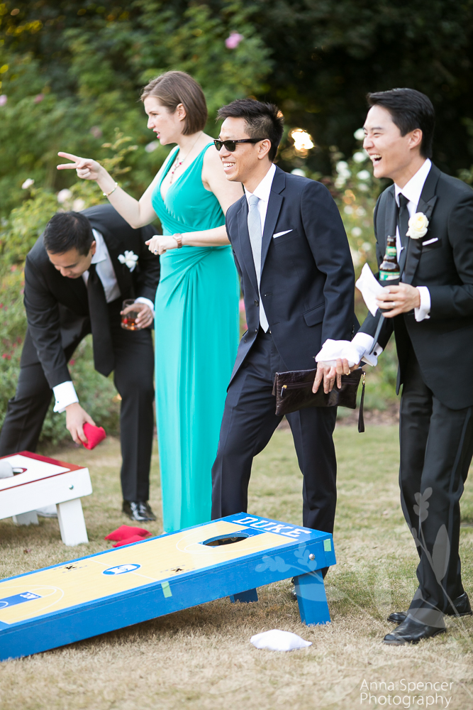 Corn Hole Lawn Game at a Wedding