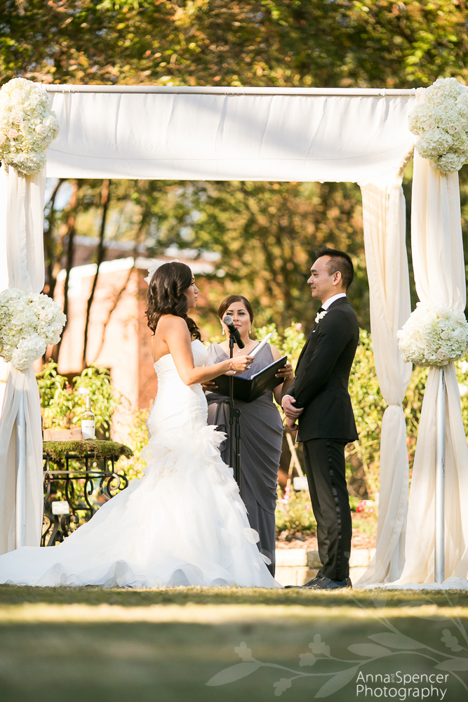 Wedding Ceremony At The Atlanta Botanical Garden Rose Garden