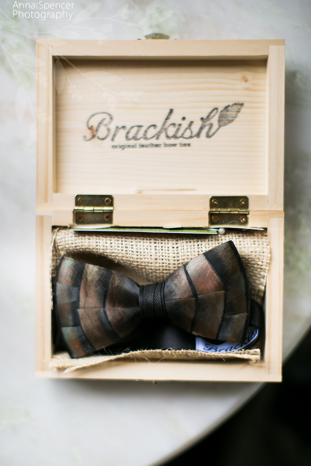 Grooms Feather Bowtie