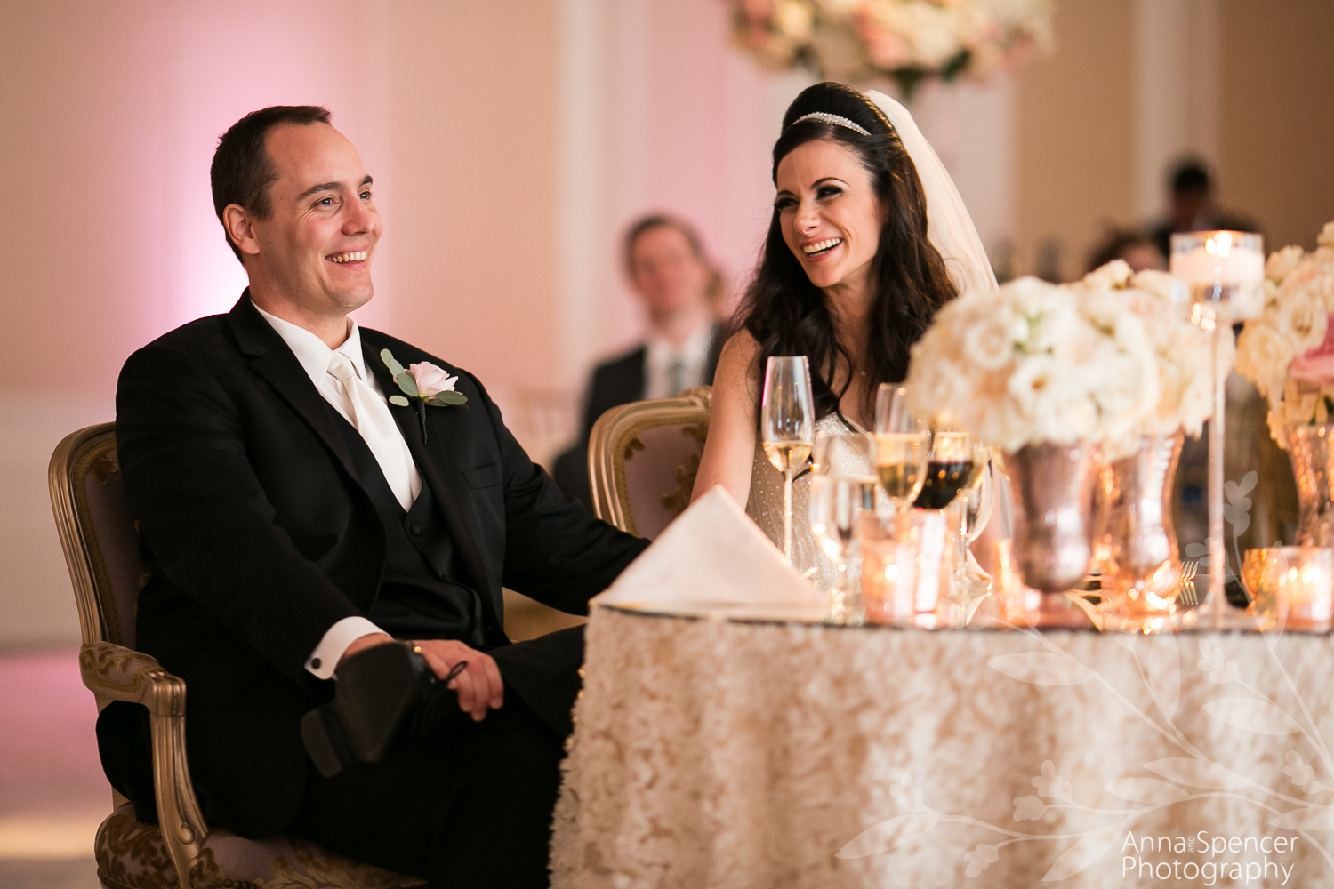 St Regis Astor Ballroom Wedding Reception