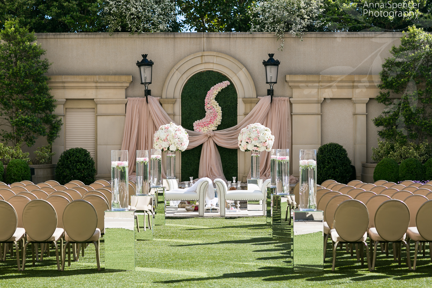 Wedding Ceremony on the Grand Terrace at the Atlanta St Regis