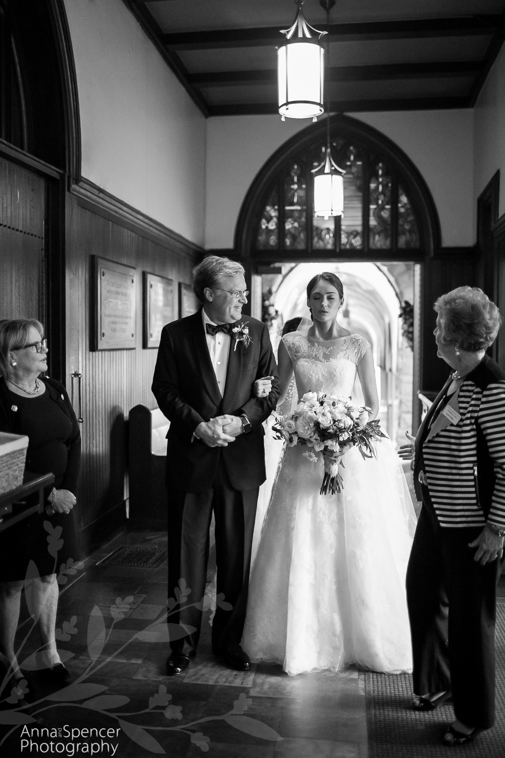 wedding ceremony at all saints episcopal church atlanta