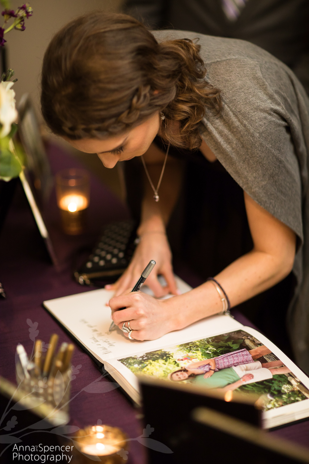 Signing the guestbook