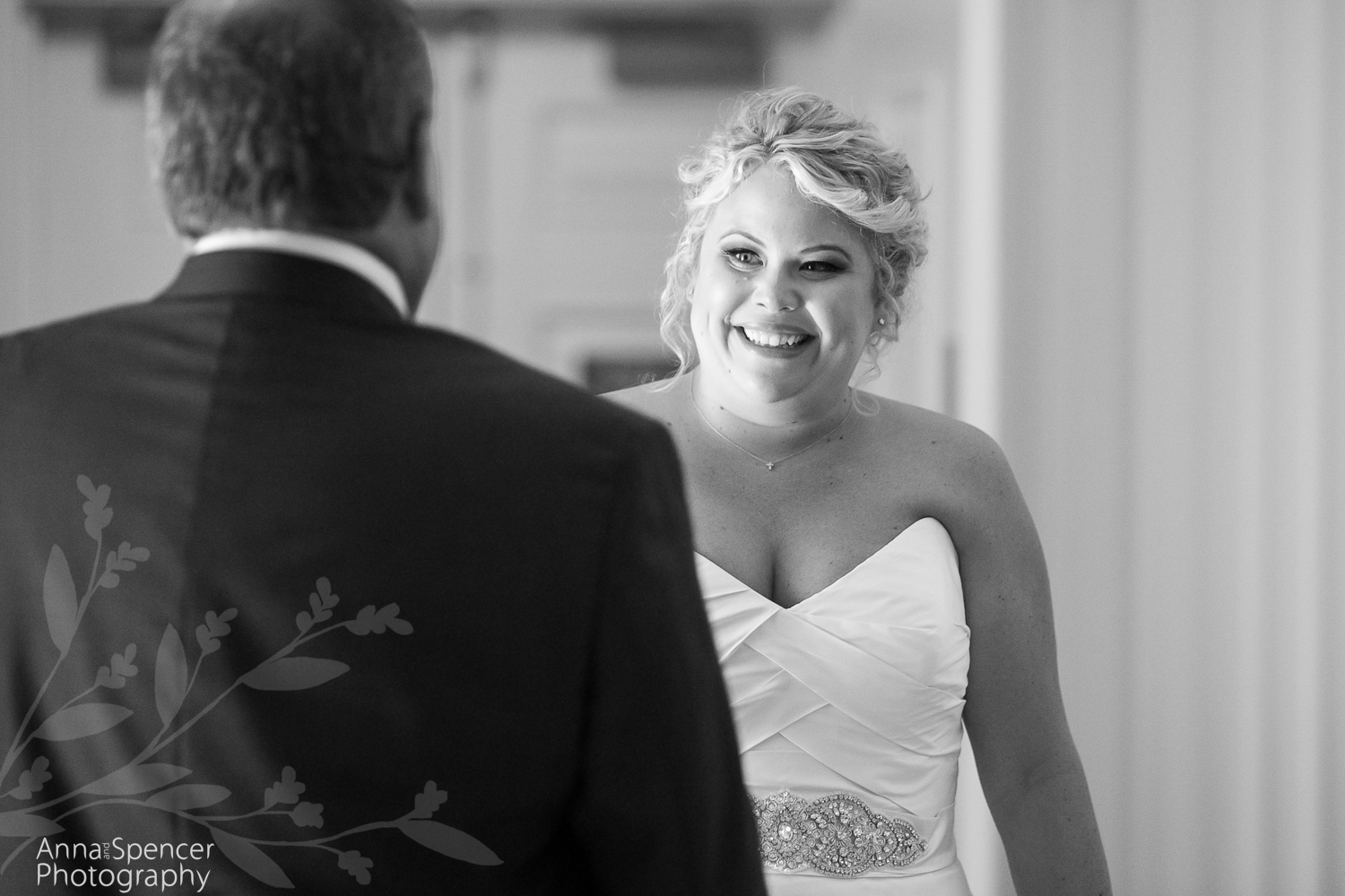 Father daughter wedding first look