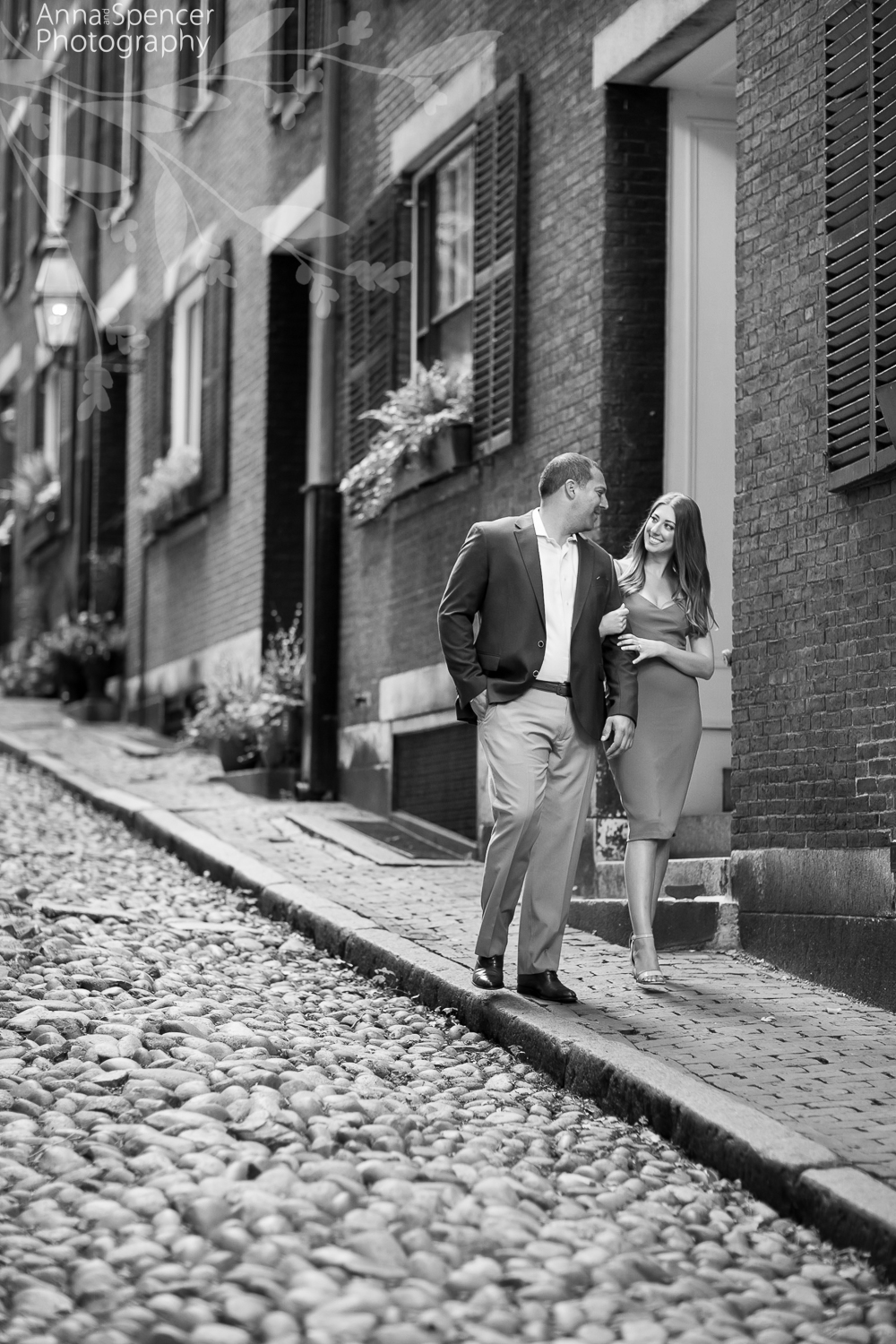 Acorn Street Boston engagement