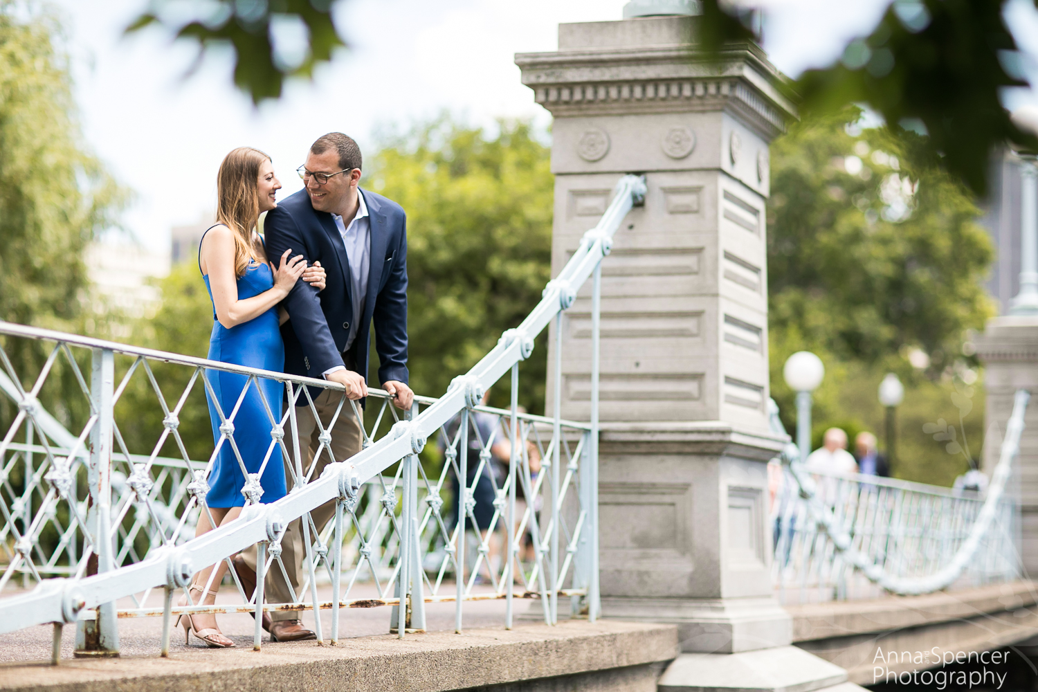 Engagement session at Boston Public Garden