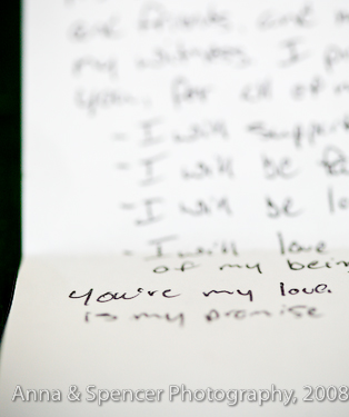 Handwritten declaration of love