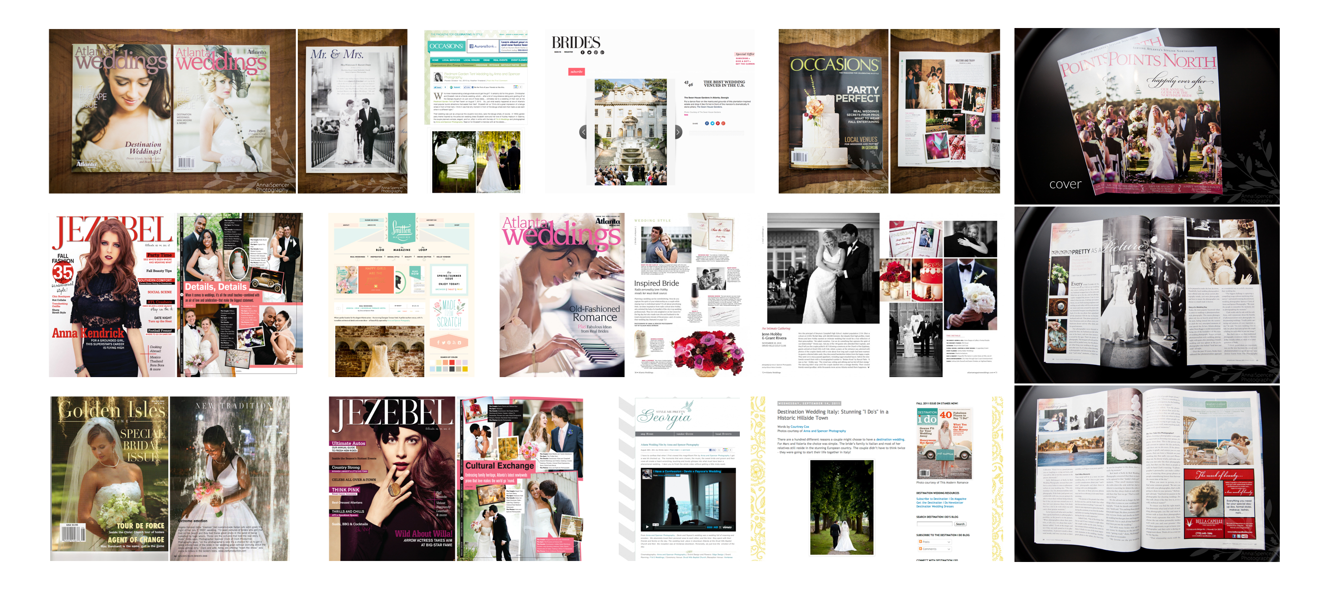 Atlanta Wedding Magazine & National Magazine Published for Anna and Spencer Photography