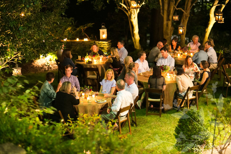 Outdoor Night Wedding Welcome Dinner